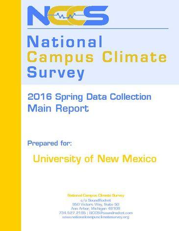 UNM-NCCS Campus Climate Survey