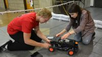 ECE students work on car