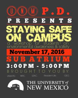 Campus Safety Event Flyer