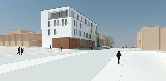 East View of the future McKinnon Center