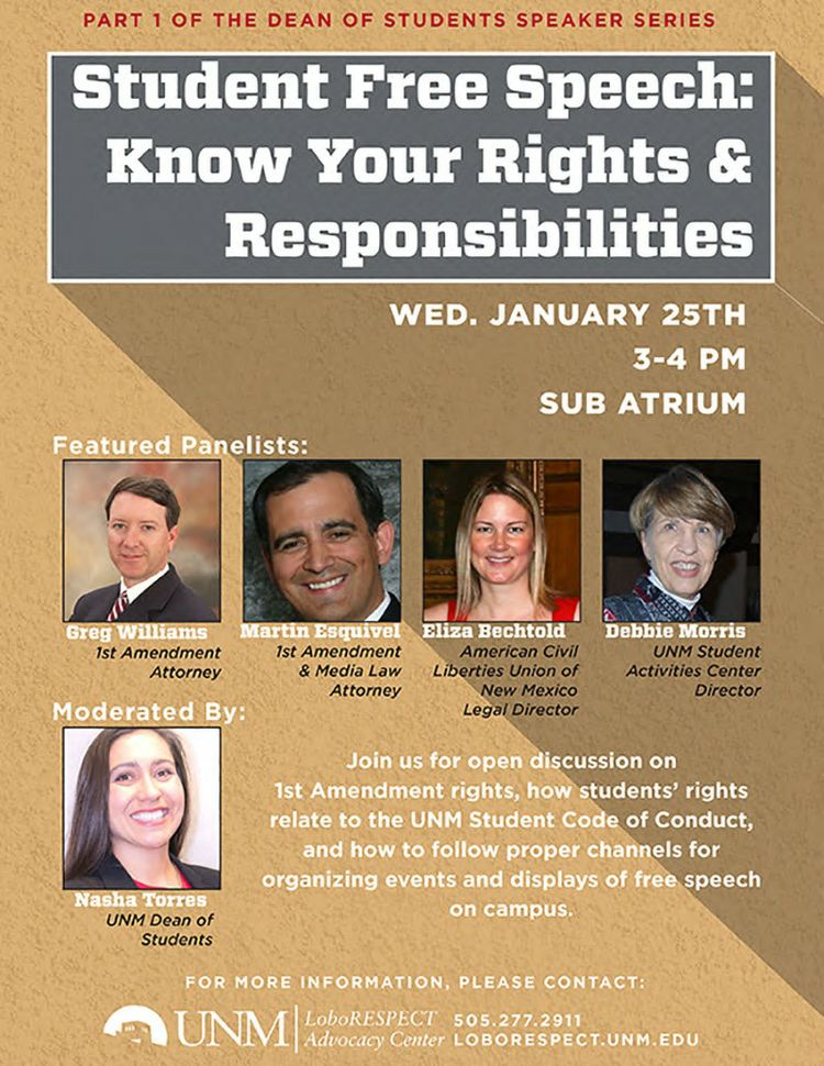 Student Free Speech: Know your Rights and Responsibilities