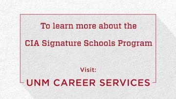 The University of New Mexico–CIA Signature Schools Program