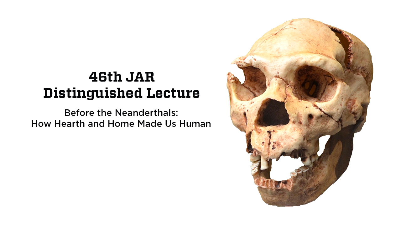 Prestigious JAR Lecture to cover what makes human beings unique in the animal world