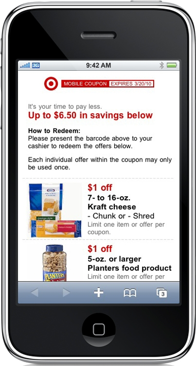 Coupon codes for iphones