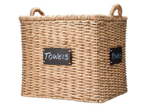 Smith and Hawken Wicker Basket with Chalkboard