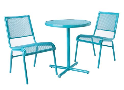 Room Essentials Lasalle Boxed Mesh Patio Set in Turquoise