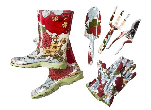 Target Home Garden Boot in Floral Target Home Tool Set in Floral and Target Home Pattern Gloves Set in Floral
