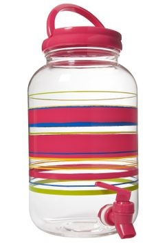 Striped Beverage Dispenser