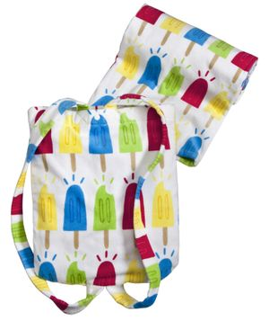 Popsicle Beach Towel with Shoulder Straps