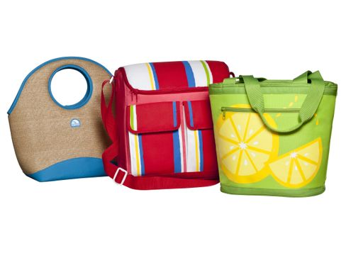 Igloo Cooler Tote, Striped Cooler Bag and Lemon Cooler Tote