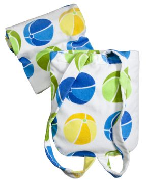 Beach Ball Towel with Shoulder Straps
