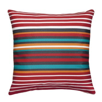 Room Essentials Small Striped Outdoor Pillow in Red