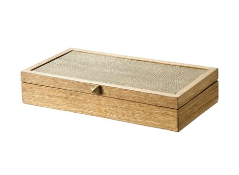 Nate Berkus Snakeskin and Wood Box