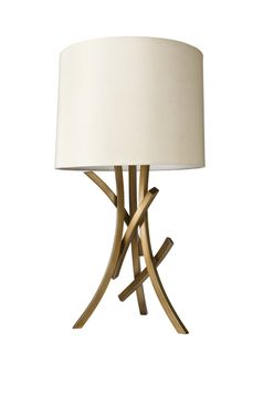 Nate Berkus Sculpted Branch Lamp Base and Nate Berkus Drum Shade in Natural