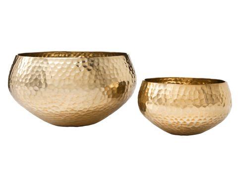 Nate Berkus Hammered Brass Bowls