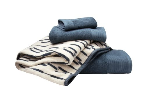 Nate Berkus Signature Bath, Hand & Wash Towels in Ultramarine and Nate Berkus Fashion Bath Ikat Towels in Ultramarine