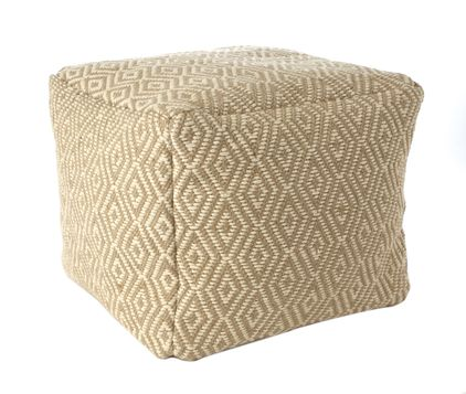 Threshold Tan Diamond Pattern Poufs