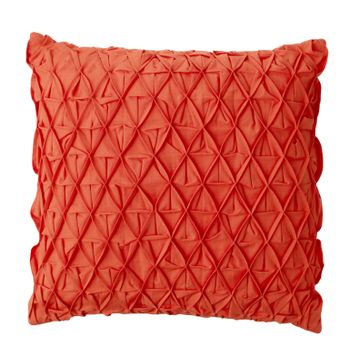 Pintuck Red Toss Pillows