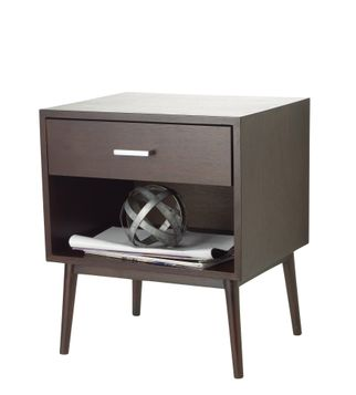 Accent Table and Metal Decorative Ball