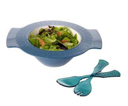 Large Handled Serve Bowl and Acrylic Servers
