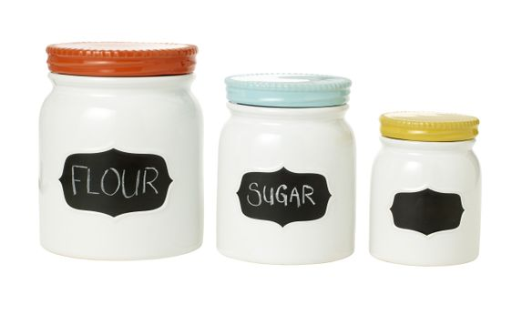 Ceramic Chalk Canisters