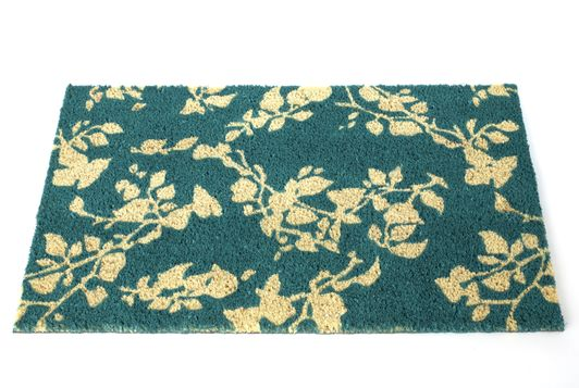 Blue Floral Doormat