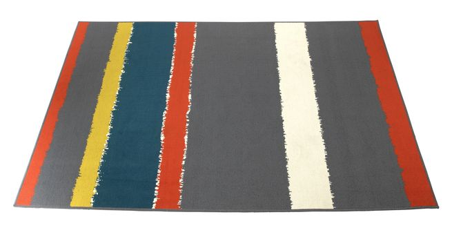 Torn Paper Stripe Outdoor Rug