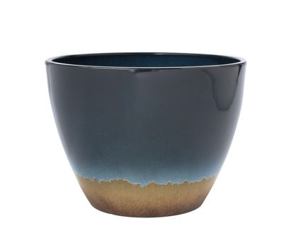 15˝ Reactive Glaze Planter in Blue