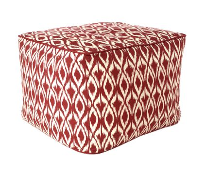 Threshold Red Diamond Pattern Poufs