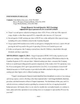 FY2013 Q2 Release w Schedules