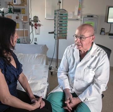 Dr. Howard Yonas and Candelaria Romero