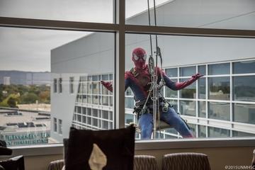 Superheroes Visit UNM Children's Hospital