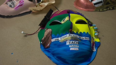 Brain injury survivors create masks to promote awareness on prevalence of injuries