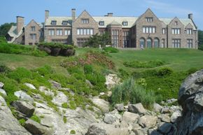 Doris Duke's Rough Point mansion from Cliff Walk