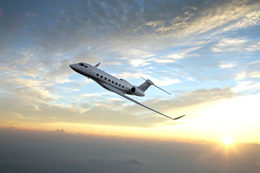 舱超远程湾流g650飞机一