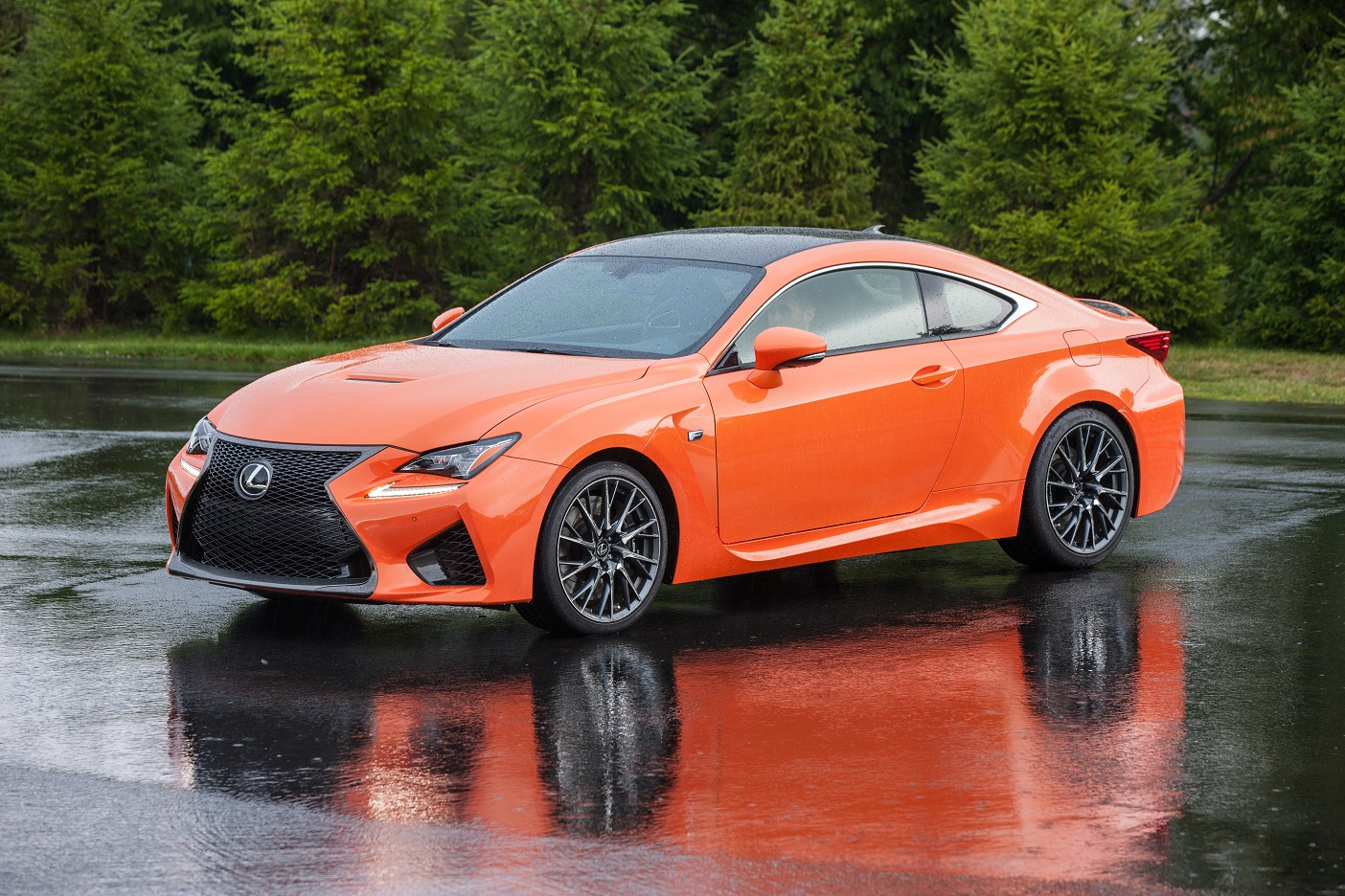 Forged from the track, up: the 2017 Lexus RC F answers the call of the road