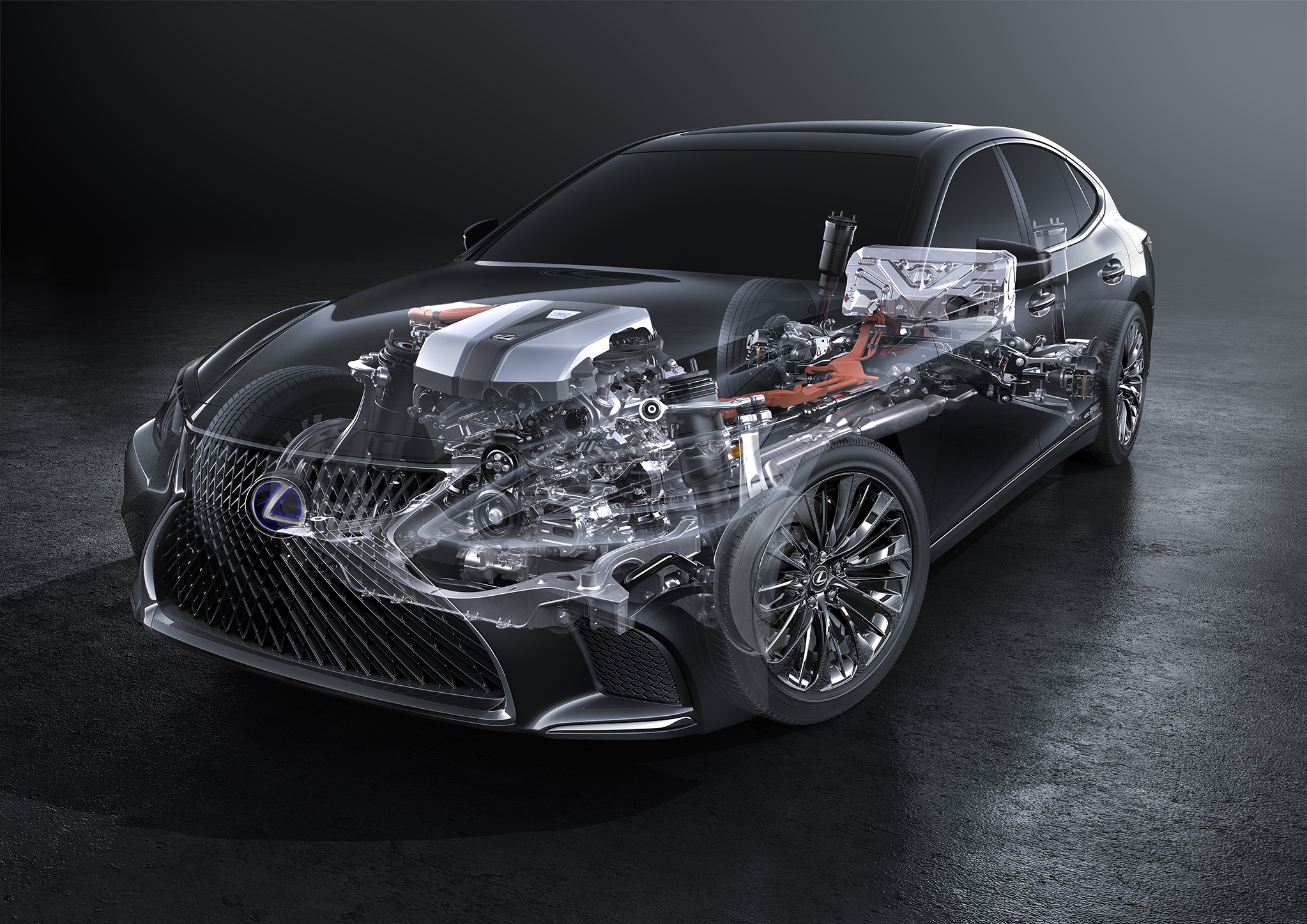 Lexus' multistage hybrid system to feature in the new LS 500h flagship sedan