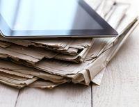 iPad and Newspaper