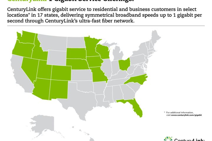 Gigabit Launch Map