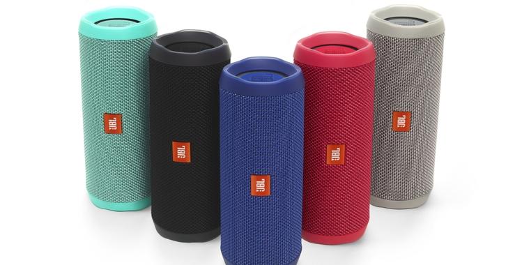 Amplify Your Adventure: JBL® Flip 4 Brings Waterproof, Rugged Design to Portable Speaker Series