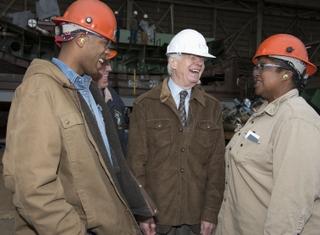 U.S. Sen. Thad Cochran Tours Ingalls Shipbuilding