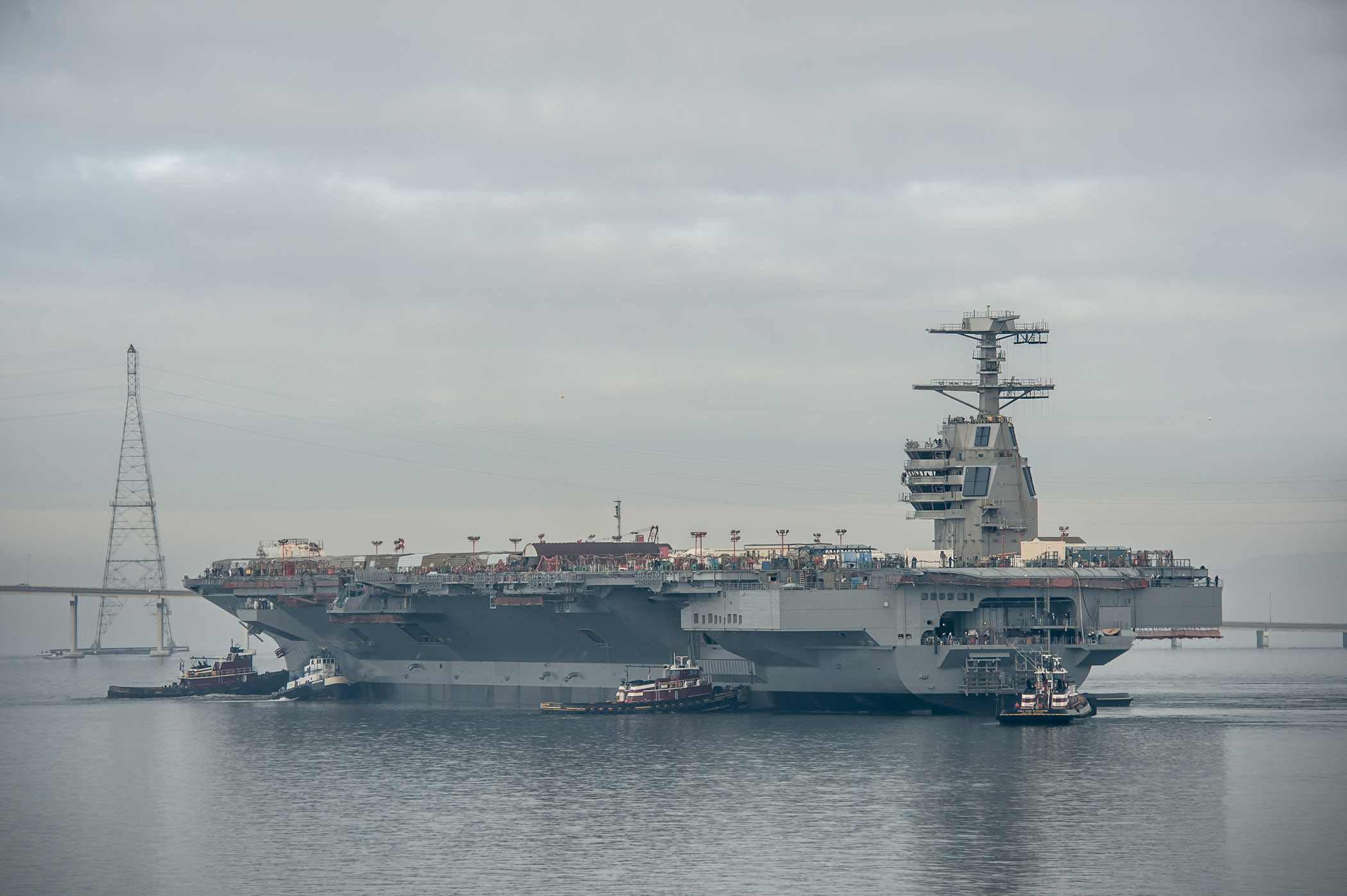 Gerald R. Ford (CVN 78) Moved to Pier 3