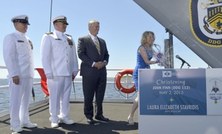 John Finn (DDG 113) is christened