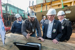 Rep. Joe Courtney visits Newport News Shipbuilding