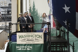 Washingon (SSN787) is Christened