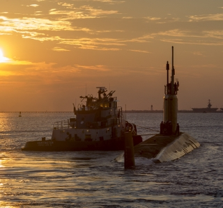 USS John Warner (SSN 785) Departs Newport News Shipbuilding
