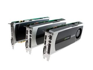 NVIDIA Quadro 4000, Quadro 5000, & Quadro 6000 (L to R)