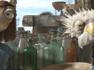 Left to right: Beans (Isla Fisher) and Furgus (Lew Temple) in RANGO, from Paramount Pictures and Nickelodeon Movies. Photo credit: Courtesy of Paramount Pictures (C) 2011 Paramount Pictures. All Rights Reserved.