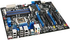The new Intel P67/Sandy Bridge motherboard features support for NVIDIA SLI technology.