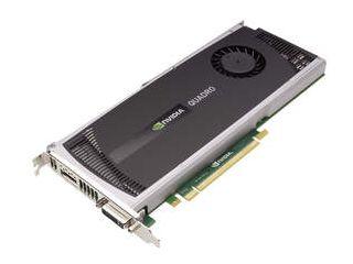 NVIDIA Quadro 4000 for Mac -- 3 qtr flat shot